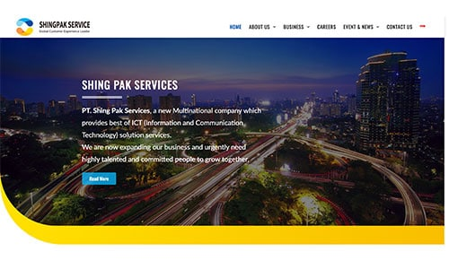 Website Design Client - Shingpak Services